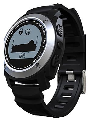 cheap Sport Watches-Men's Women's Sport Watch Military Watch Smartwatch Digital Charm Water Resistant / Waterproof Quilted PU Leather Black / Orange Digital - Black Orange Silver / Heart Rate Monitor / Alarm