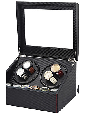 cheap Quartz Watches-Watch Boxes Repair Tools & Kits Watch Winder Box leather Watch Accessories 30.5*24.5*17.5 2.0