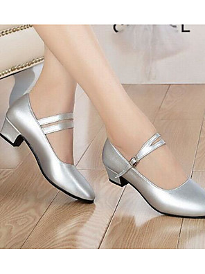 cheap Evening Dresses-Women's Dance Shoes Synthetics Modern Shoes/Character Shoes Heel Black / Silver / Practice / EU40