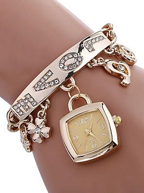cheap Quartz Watches-Women's Bracelet Watch Square Watch Quartz Ladies Water Resistant / Waterproof Stainless Steel Silver / Gold Analog - Gold Silver