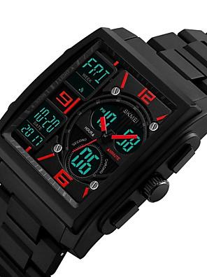 cheap Sport Watches-Men's Sport Watch Military Watch Wrist Watch Quartz Casual Water Resistant / Waterproof Black Analog - Digital - Black Red Blue / Japanese / Calendar / date / day / Chronograph / Luminous