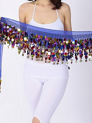 cheap Special Occasion Dresses-Belly Dance Hip Scarves Women's Performance Chiffon Paillette Hip Scarf