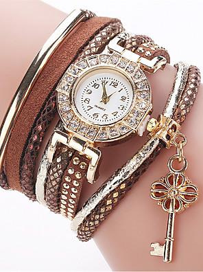 cheap Quartz Watches-Women's Fashion Watch Bracelet Watch Simulated Diamond Watch Quartz Ladies Imitation Diamond Quilted PU Leather White / Blue / Red Analog - White Black Red