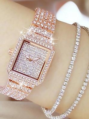 cheap Quartz Watches-Women's Luxury Watches Diamond Watch Gold Watch Quartz Ladies Casual Watch Stainless Steel Silver / Gold / Rose Gold Analog - Rose Gold Gold Silver / Japanese / Japanese