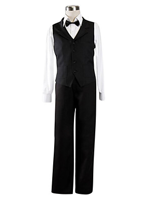 cheap Cocktail Dresses-Inspired by DuRaRaRa Shizuo Heiwajima Anime Cosplay Costumes Japanese Cosplay Suits Solid Colored Long Sleeve Vest Shirt Pants For Men's / Bow / Bow