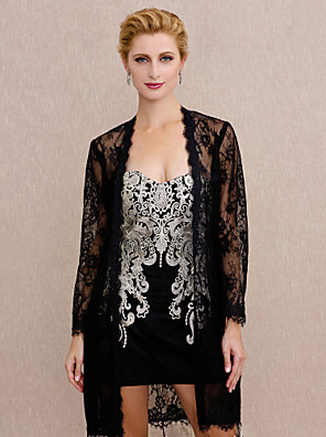 cheap Wedding Wraps-Coats / Jackets Lace Wedding / Party / Evening Women's Wrap With Lace