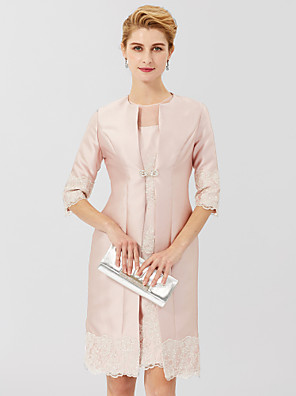 cheap Wedding Wraps-3/4 Length Sleeve Coats / Jackets Lace / Satin Wedding / Party / Evening Women's Wrap With Rhinestone / Lace