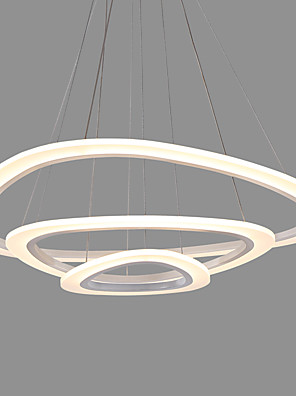 cheap Evening Dresses-3-Light Modern Acrylic Triangle Simplicity LED Pendant Lights Three Rings Indoor Light For Office Living Room Bedroom Restaurant