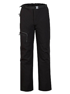 cheap Men's Pants & Shorts-Men's Hiking Pants Softshell Pants Winter Outdoor Thermal Warm Windproof Fleece Lining Breathable Softshell Bottoms Black Hunting Fishing Hiking S M L XL XXL - Cikrilan / Stretchy / Wear Resistance