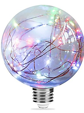 cheap Men's Shirts-1pc 3 W LED Filament Bulbs 250 lm E27 G95 33 LED Beads Integrate LED Starry Blue Pink Multi Color 85-265 V / RoHS