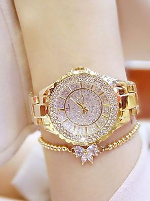 cheap Quartz Watches-Women's Luxury Watches Wrist Watch Diamond Watch Quartz Ladies Casual Watch Stainless Steel Silver / Gold Analog - Gold Silver / Japanese / Japanese