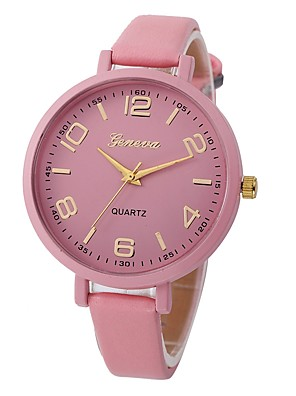 cheap Quartz Watches-Women's Ladies Wrist Watch Quartz Leather Black / White / Red Water Resistant / Waterproof Chronograph Analog Casual Bohemian Fashion - Green Blue Pink One Year Battery Life / Stainless Steel