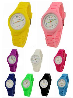 cheap Quartz Watches-Wrist Watch Quartz Silicone Black / White / Blue Casual Watch Analog Ladies Charm Casual - Green Pink Light Blue