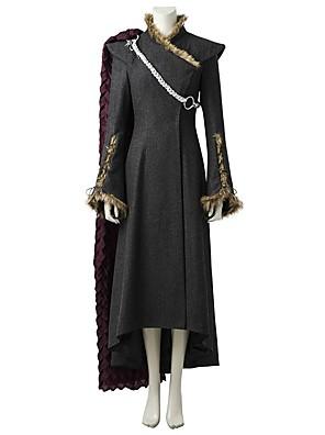 cheap Wedding Party Dresses-Game of Thrones Dragon Mother Queen Daenerys Targaryen Khaleesi Costume Women's Movie Cosplay Gray & Black Dress Cloak More Accessories Halloween Carnival Oktoberfest Beer
