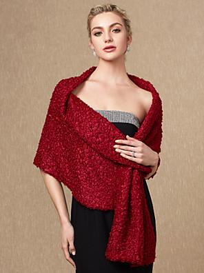 cheap Wedding Wraps-Sleeveless Shawls Faux Fur Wedding / Party / Evening Women's Wrap With