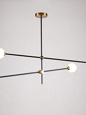 cheap Evening Dresses-4-Light 100 cm Pendant Light Metal Glass Sputnik Modern Contemporary 110-120V / 220-240V