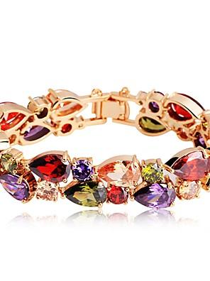 cheap Quartz Watches-Women's Bracelet Drop Ladies Classic Bohemian Boho Zircon Bracelet Jewelry Rainbow For Engagement Gift