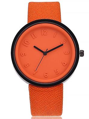 cheap Quartz Watches-Women's Ladies Wrist Watch Quartz Black / White / Blue Large Dial Analog Casual Fashion - Red Green Pink One Year Battery Life