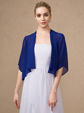 cheap Wedding Wraps-Half Sleeve Shrugs Chiffon Wedding / Party / Evening Women's Wrap With
