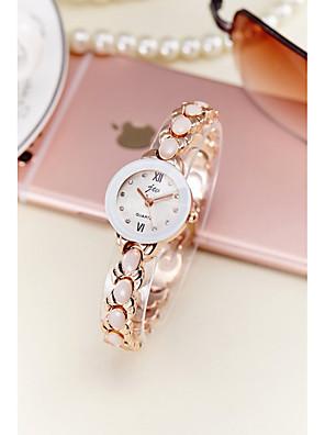 cheap Quartz Watches-Women's Bracelet Watch Simulated Diamond Watch Quartz Silver / Gold 30 m Water Resistant / Waterproof Imitation Diamond Analog Ladies Sparkle Bangle Fashion Elegant - Gold Silver