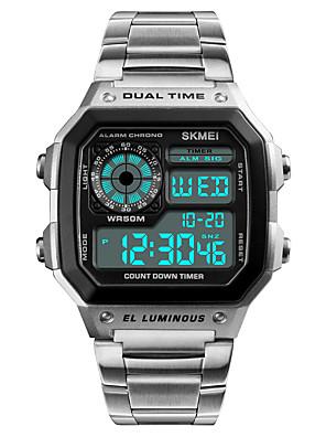 cheap Sport Watches-Men's Sport Watch Wrist Watch Digital Watch Japanese Digital 50 m Water Resistant / Water Proof Alarm Calendar / date / day Stainless Steel Band Digital Casual Black / Silver - Black Silver Rose Gold