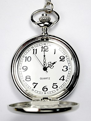 cheap Quartz Watches-Couple's Skeleton Watch Pocket Watch Quartz Ladies Hollow Engraving Analog Silver