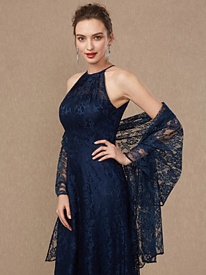 cheap Wedding Wraps-Sleeveless Shawls Lace Wedding / Party / Evening Women's Wrap With Lace
