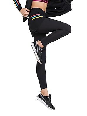 povoljno Klizačke haljine-Žene Futónadrág Pamuk 2pcs Biciklizam Hulahopke Tajice Pamuk Yoga Fitness Trening u teretani vježba Quick dry Brzo kemijska Sport Crn