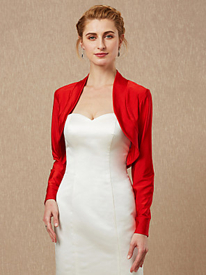cheap Wedding Wraps-Long Sleeve Coats / Jackets Spandex Wedding / Party / Evening Women's Wrap With
