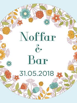 cheap Wedding Dresses-Floral/Botanicals Stickers, Labels & Tags - 10 Circular Envelope Sticker