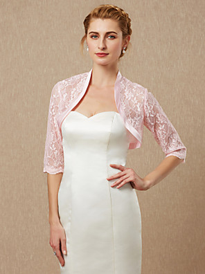 cheap Buy More, Save More-Half Sleeve Shrugs Lace Wedding / Party / Evening Women's Wrap With Lace