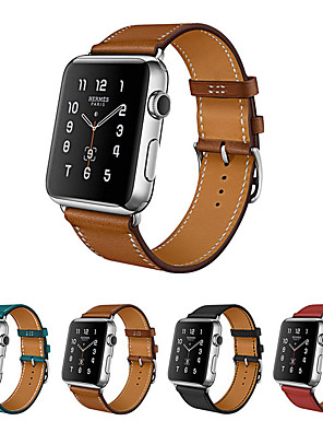 cheap Leather Watch Bands-Watch Band for Apple Watch Series 5/4/3/2/1 Apple Leather Loop Genuine Leather Wrist Strap