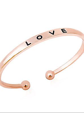 cheap Quartz Watches-Women's Cuff Bracelet Ladies Korean Sweet Alloy Bracelet Jewelry Gold / Silver / Rose Gold For Gift Daily Street