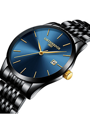 cheap Quartz Watches-Men's Dress Watch Oversized Luxury Water Resistant / Waterproof Black / Silver / Gold Analog - Blue / Black Golden Gold / White Two Years Battery Life / Japanese / Chronograph / Large Dial / Japanese