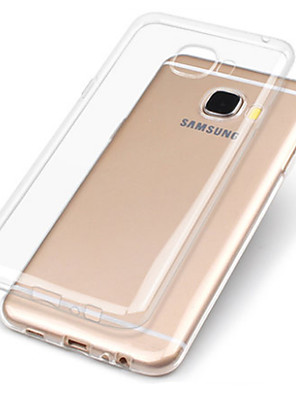 cheap Samsung Case-Case For Samsung Galaxy A3(2017) / A5(2017) / A7(2017) Transparent Back Cover Solid Colored Soft TPU