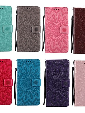cheap Samsung Case-Case For Samsung Galaxy A3(2017) / A5(2017) / A5(2016) Wallet / Card Holder / with Stand Full Body Cases Mandala Hard PU Leather
