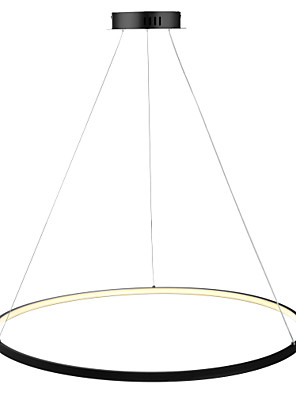 cheap Party Dresses-1-Light Ecolight™ 80 cm LED Pendant Light Metal Acrylic Circle Painted Finishes Modern Contemporary 110-120V / 220-240V