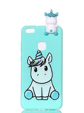 cheap Huawei Case-Case For Huawei Huawei P20 lite / P10 Lite / P10 Pattern / DIY Back Cover Unicorn Soft TPU