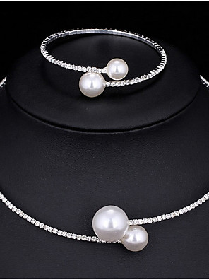 cheap Watches-Women's Bridal Jewelry Sets Classic Fashion Elegant Imitation Pearl Earrings Jewelry White For Wedding Party 1 set