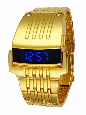 cheap Quartz Watches-Men's Sport Watch Digital Watch Quartz Luxury Water Resistant / Waterproof Black / Silver / Gold Digital - Black Gold Silver