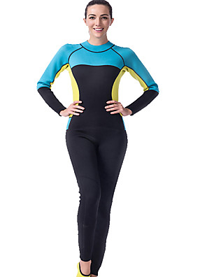 cheap Wetsuits, Diving Suits & Rash Guard Shirts-LIFURIOUS Women's Full Wetsuit 3mm Diving Suit High Elasticity Long Sleeve Back Zip Solid Colored