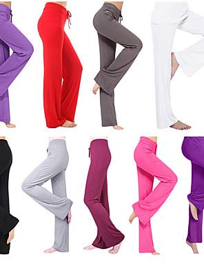 cheap Leggings-Women's Yoga Pants Flare Leg Drawstring Pants / Trousers Breathable Moisture Wicking White Black Purple Modal Zumba Running Pilates Plus Size Sports Activewear Stretchy Loose / Burgundy / Royal Blue