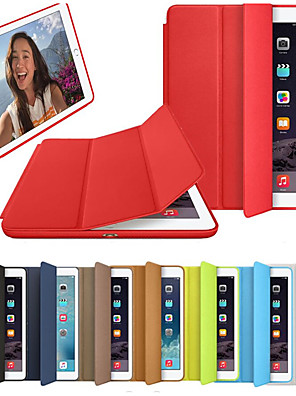 cheap iPad case-Case For Apple iPad Air / iPad 4/3/2 / iPad (2018) Flip / Origami / Magnetic Full Body Cases Solid Colored Hard PU Leather / iPad (2017) / iPad Pro 10.5