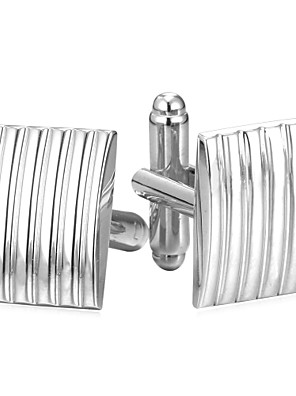 cheap Men's Accessories-Cufflinks Simple Fashion Brooch Jewelry Silver Golden For Daily
