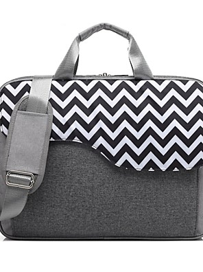 """cheap Mac Accessories-Coolbell 15"""" Laptop / 17"""" Laptop Shoulder Messenger Bag Nylon Lines / Waves for Business Office for Colleages & Schools for Travel Water Proof Shock Proof"""