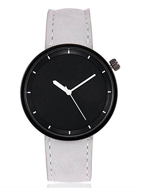 cheap Quartz Watches-Men's Women's Wrist Watch Quartz Bangle Large Dial Leather Black / White / Red Analog - White Black Purple One Year Battery Life / SSUO LR626