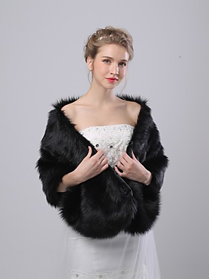 cheap Bridesmaid Dresses-Sleeveless Capelets Faux Fur Wedding / Birthday Women's Wrap With