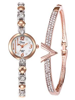 cheap Suits-Women's Dress Watch Bracelet Watch Diamond Watch Quartz Ladies Creative Stainless Steel Silver Analog - White / Gold Black Gold One Year Battery Life