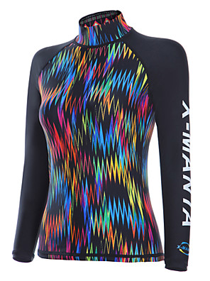 cheap Wetsuits, Diving Suits & Rash Guard Shirts-Dive&Sail Women's Rash Guard Spandex SPF50 UV Sun Protection Breathable Long Sleeve Diving Toile Spring Summer / Quick Dry / Stretchy / Quick Dry