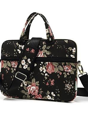 cheap Mac Accessories-Shoulder Bags Handbags Flower Canvas Laptop Bag for Macbook Air 13.3/MacBook Pro 13.3 15.4/New MacBook 13.3 15.4 with Touch Bar